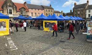 Social Distancing at Alnwick Market