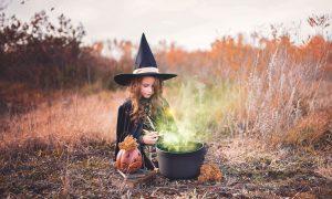 Children's Halloween costume - a Socially distanced halloween witch