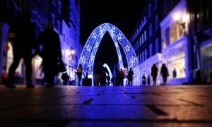 Days out in alnwick for christmas 2020 -light trail