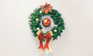 Christmas wreaths at Geraud