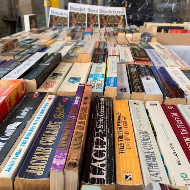 Books galore at Kirkby Lonsdale Charter Market with The Book Lounge